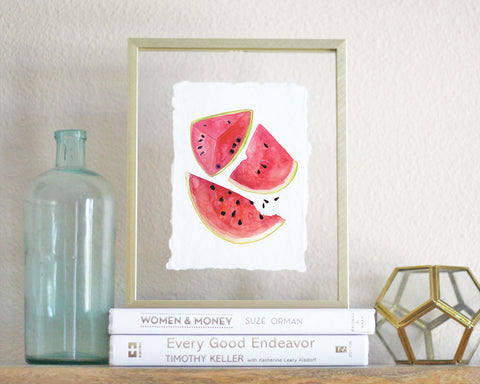 'Watermelon' Print - Honey Brush Design