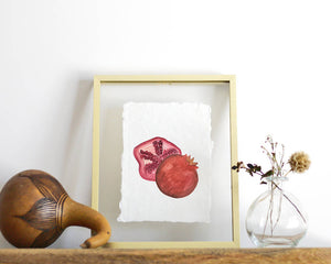 'Pomegranate' Print - Honey Brush Design