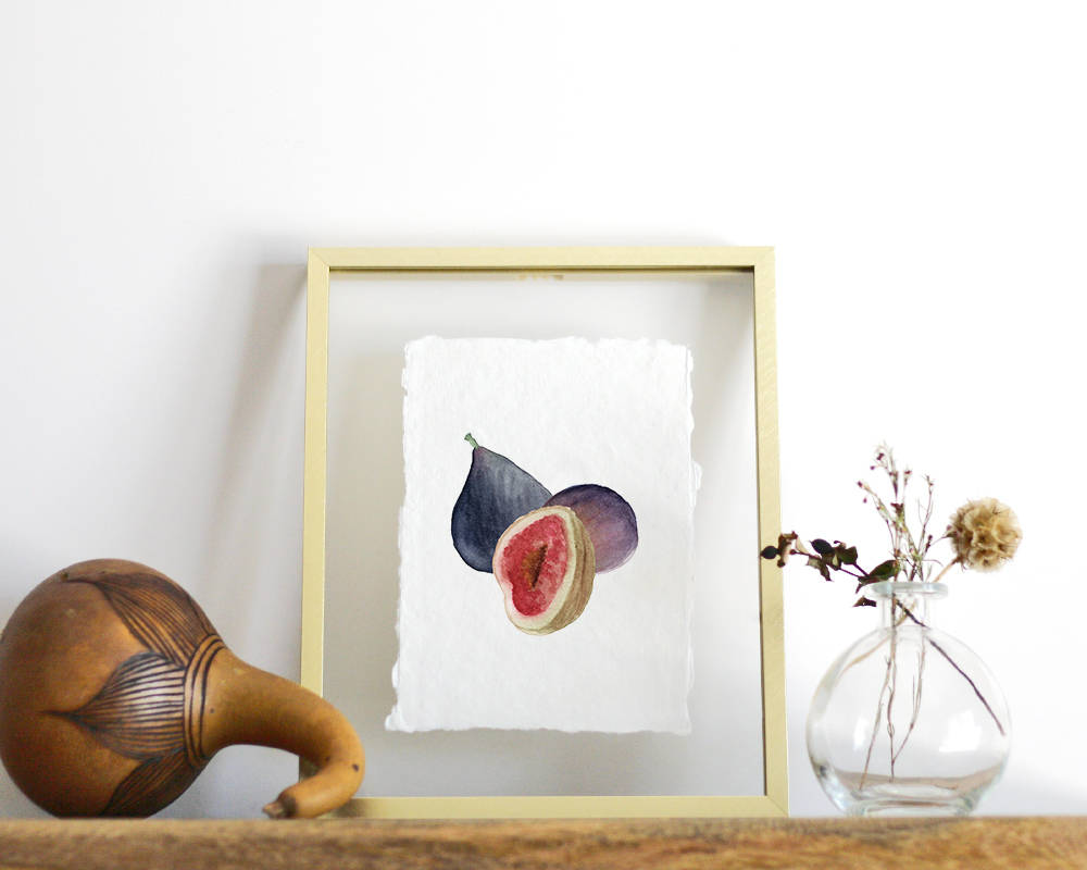 'Figs' Print - Honey Brush Design