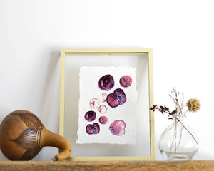 'Plums' Print - Honey Brush Design