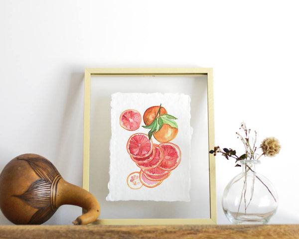 'Blood Orange' Print - Honey Brush Design