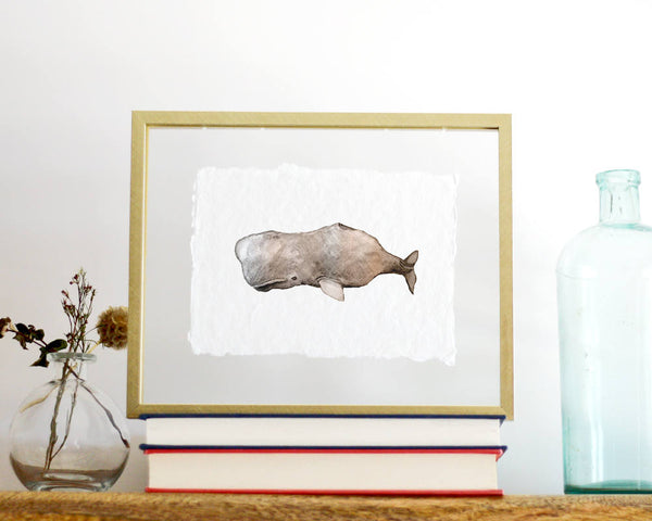'Whale' Print - Honey Brush Design