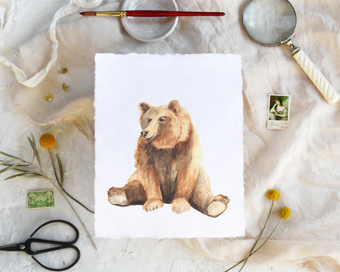 'Bear' Print - Honey Brush Design