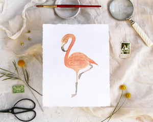 'Flamingo' Print - Honey Brush Design
