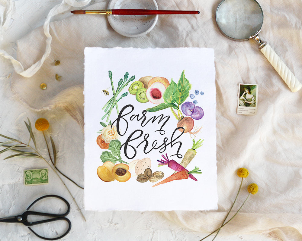 'Farm Fresh' Print - Honey Brush Design