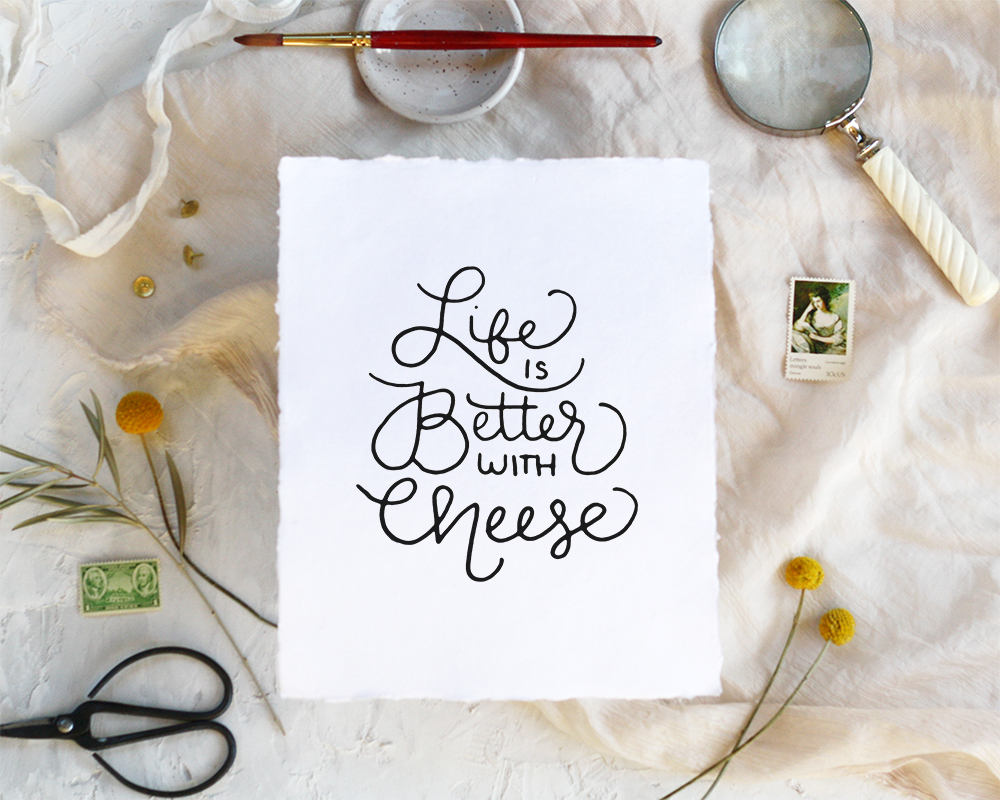 'Cheese' Print - Honey Brush Design