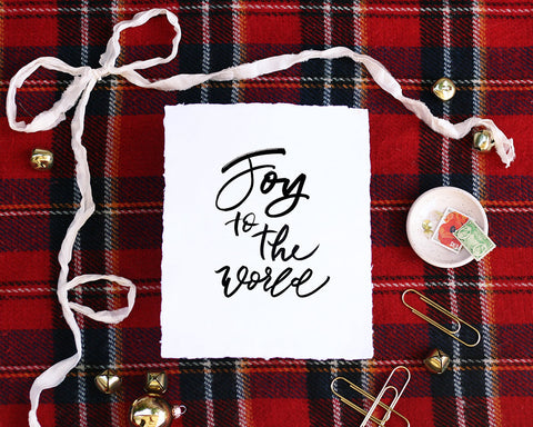'Joy to the World' Print - Honey Brush Design