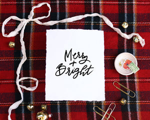 'Merry + Bright' Print - Honey Brush Design