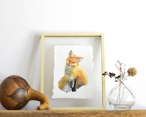 'Fox' Print - Honey Brush Design