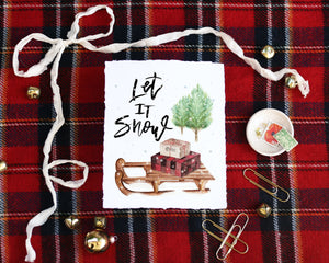 'Let It Snow' Print - Honey Brush Design