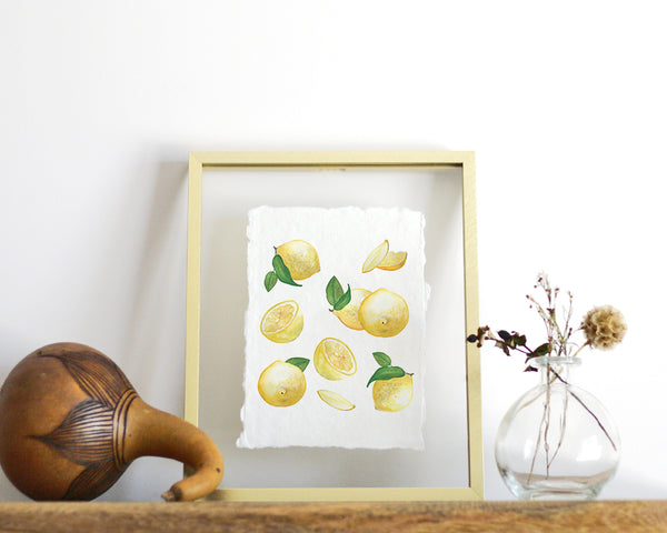 'Lemons' Print - Honey Brush Design