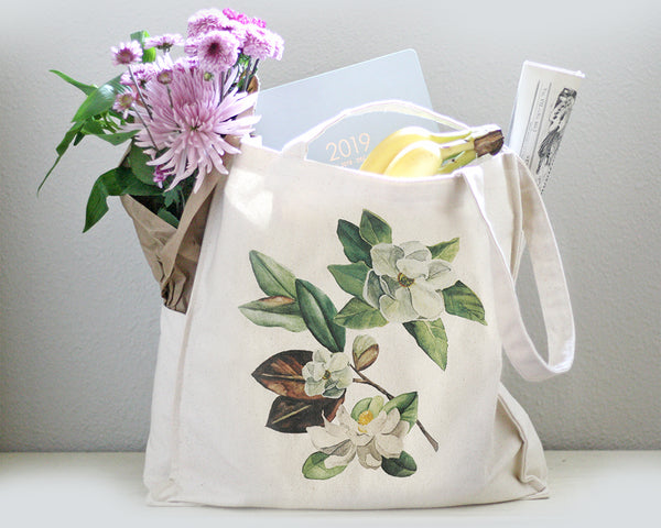 Magnolia Tote Bag - Honey Brush Design