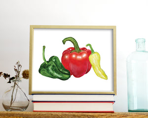'Peppers' Printable - Honey Brush Design