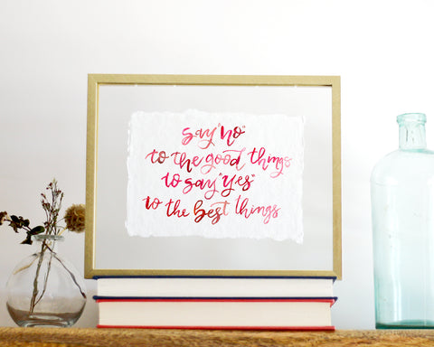'The Best Things' Print - Honey Brush Design