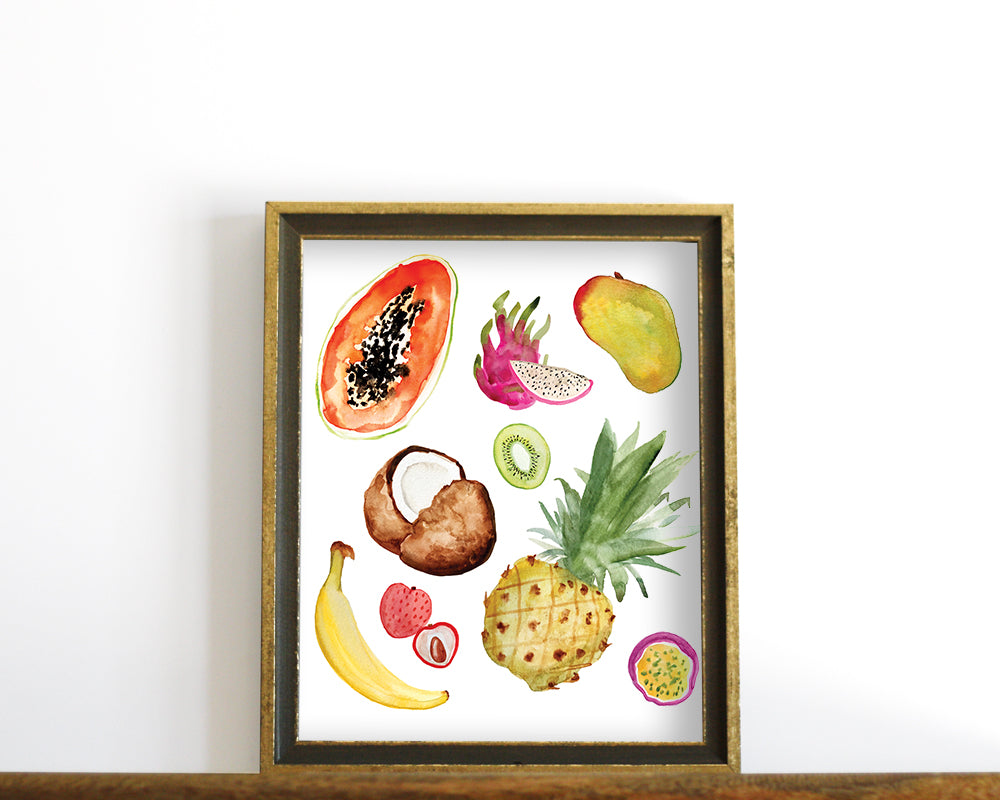 'Tropical Fruits' Printable - Honey Brush Design