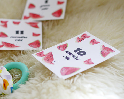 Watermelon Baby Milestone Cards