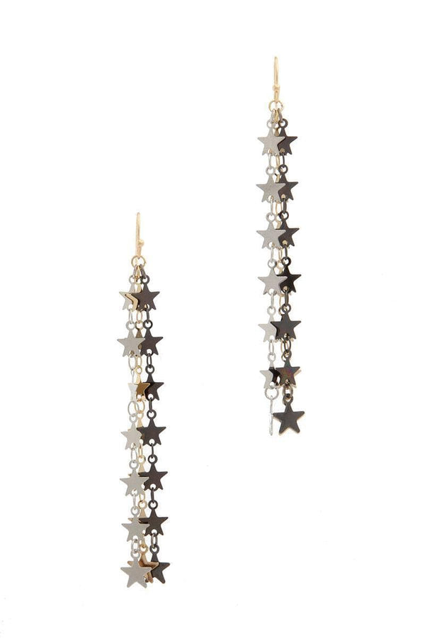 Star multi strand dangle earring