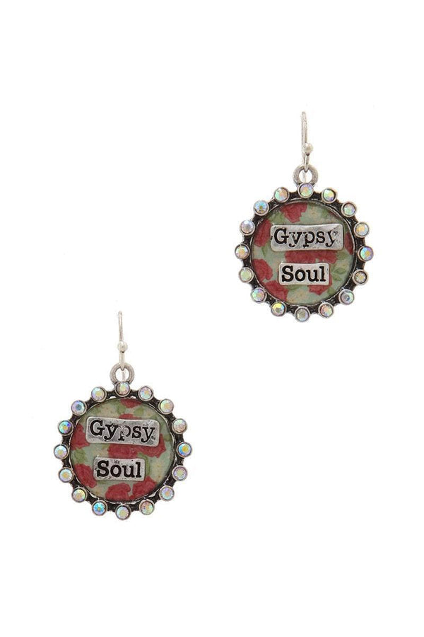 """gypsy Soul"" Rhinestone Drop Earring"