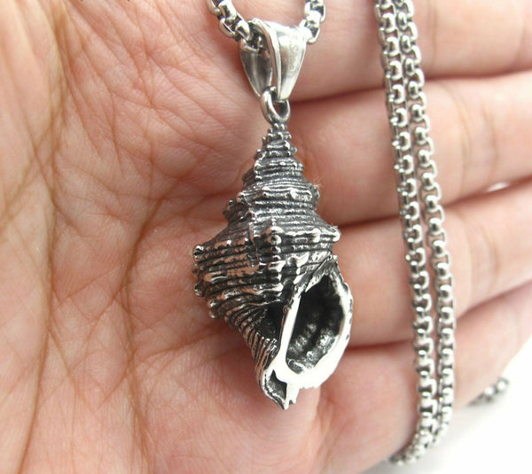 Mens Seashell Pendant