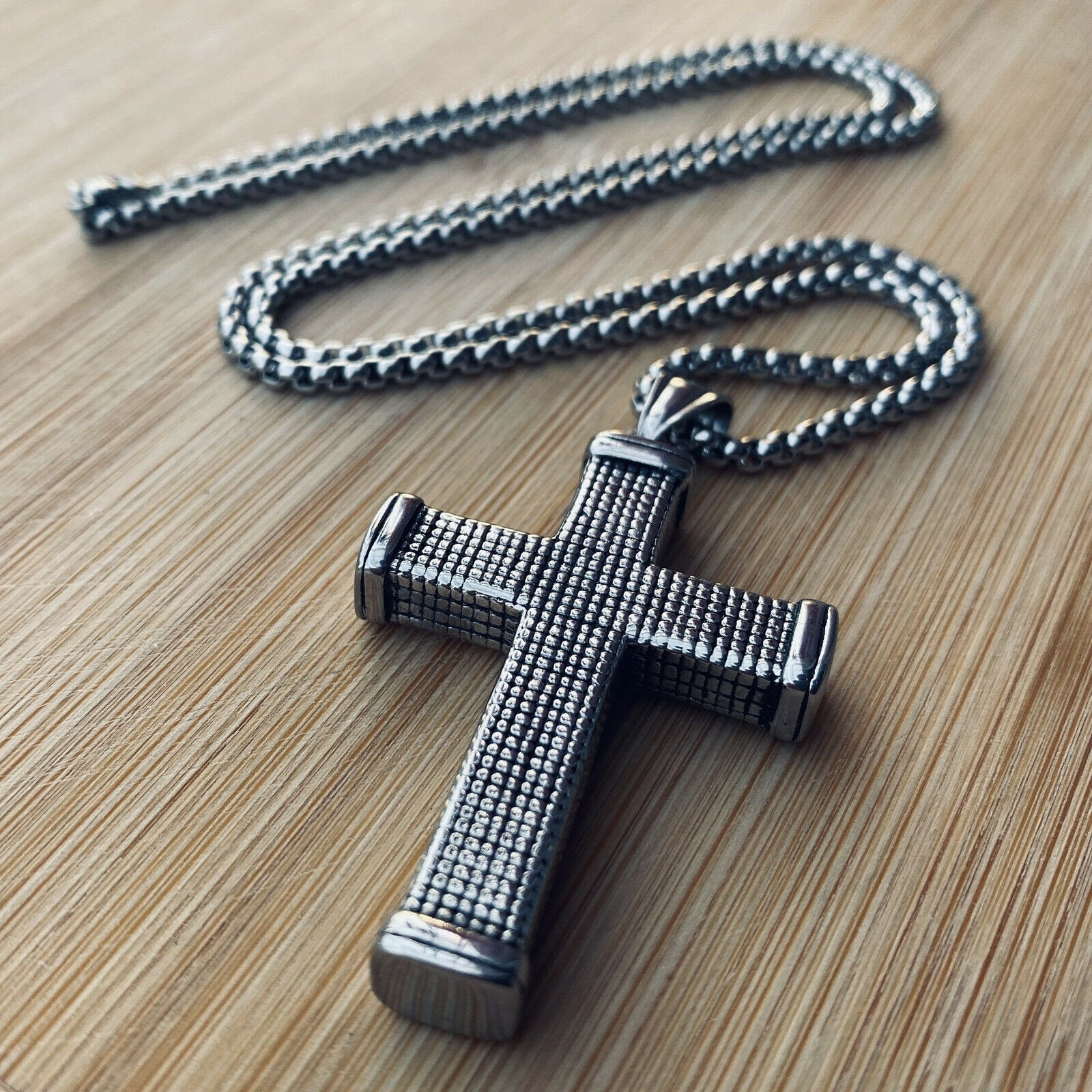 Cross Pendant for Men Stainless Steel