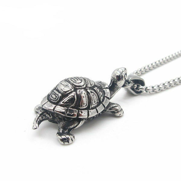 Turtle Tortoise Necklace for Men Stainless Steel