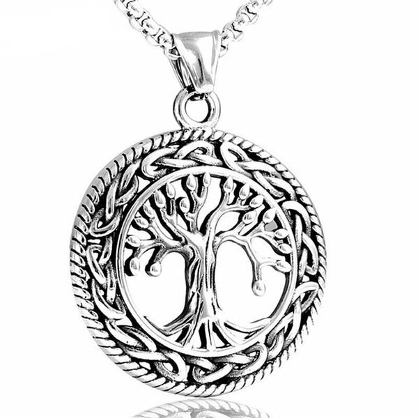 Tree of life Pendant Necklace Stainless Steel Celtic