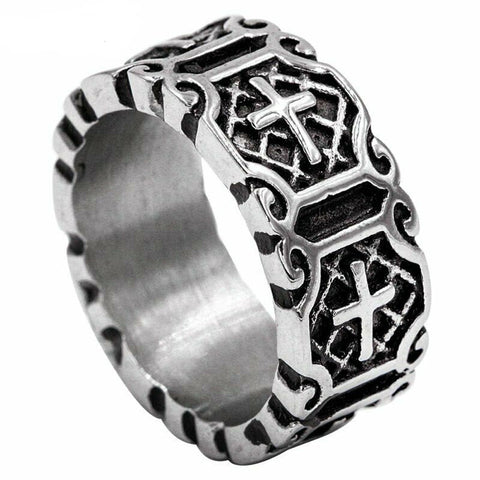 Christian Cross Band Ring For Men