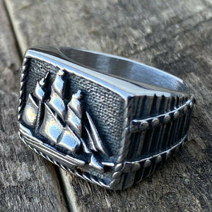 Nautical Sailor Marine Pirate Ship Ring Stainless Steel