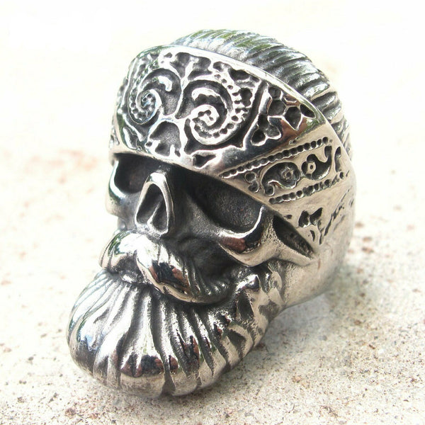 Biker Punk Ring for Men in Stainless Steel