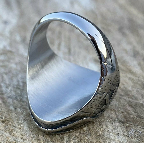 Lighthouse Marine Ring for Men in Stainless Steel