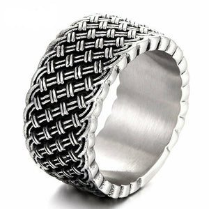 Celtic Knot Braided Ring in Stainless Steel
