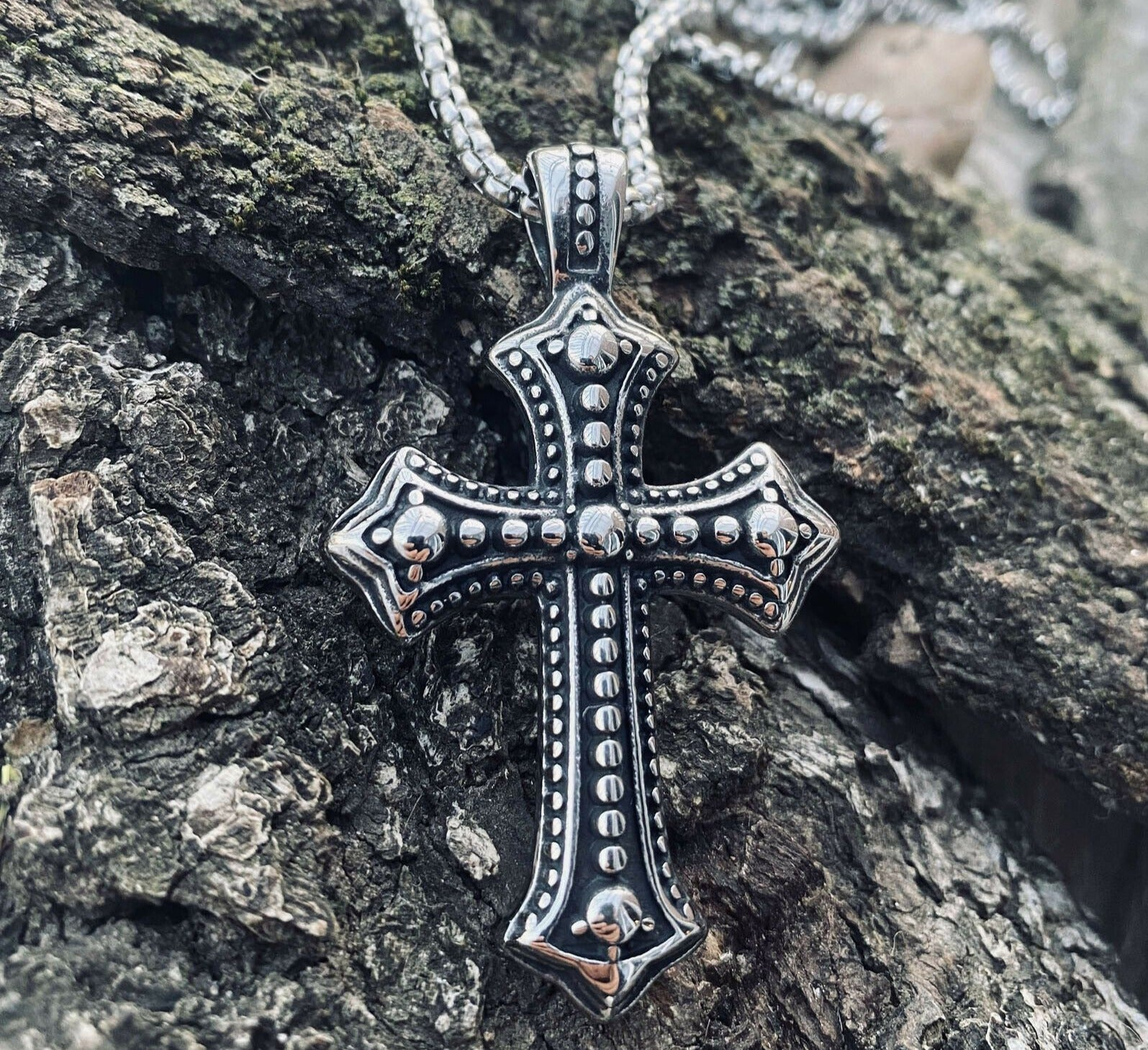 Biker Cross Necklace