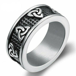 Celtic Trinity Knot Ring for Men in Stainless Steel