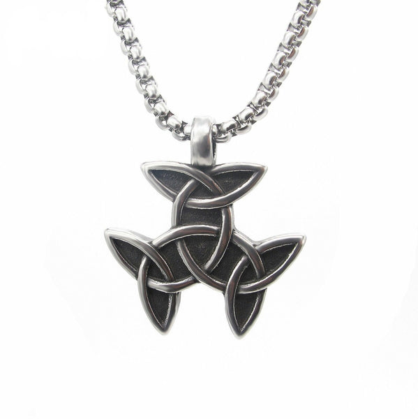 Irish Celtic Trinity Knot Necklace for Men