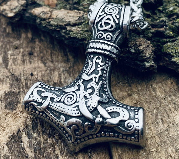 Heavy Thors Hammer Necklace for Men