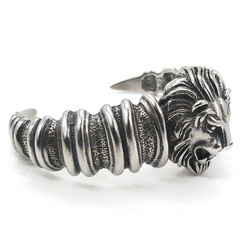 Biker Lion Head Bracelet for Men