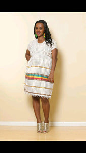 Habesha Dress, Ethiopian Dress, Short Zurya
