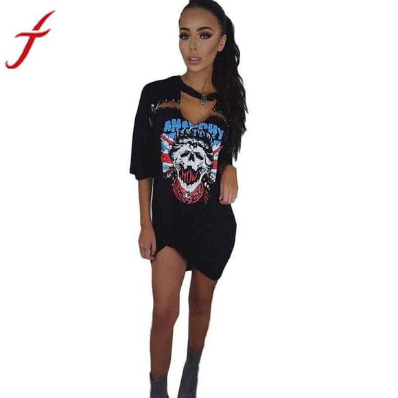 2017 Summer Dress Africa Style Sexy Deep V Women Ladies shirt Print Casual Short Sleeve Club Party Dresses