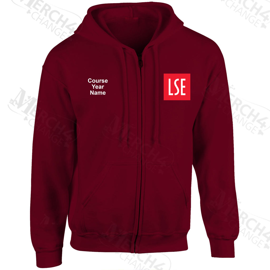 LSE embroidered Zip Hooded top