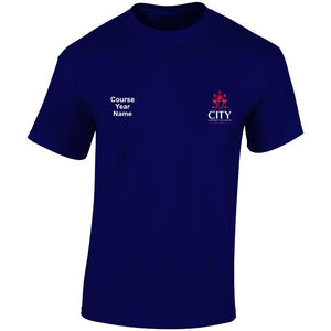 City embroidered T-shirts