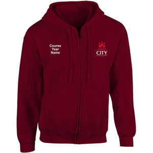 City Diagnostic Radiography embroidered Zip Hooded top