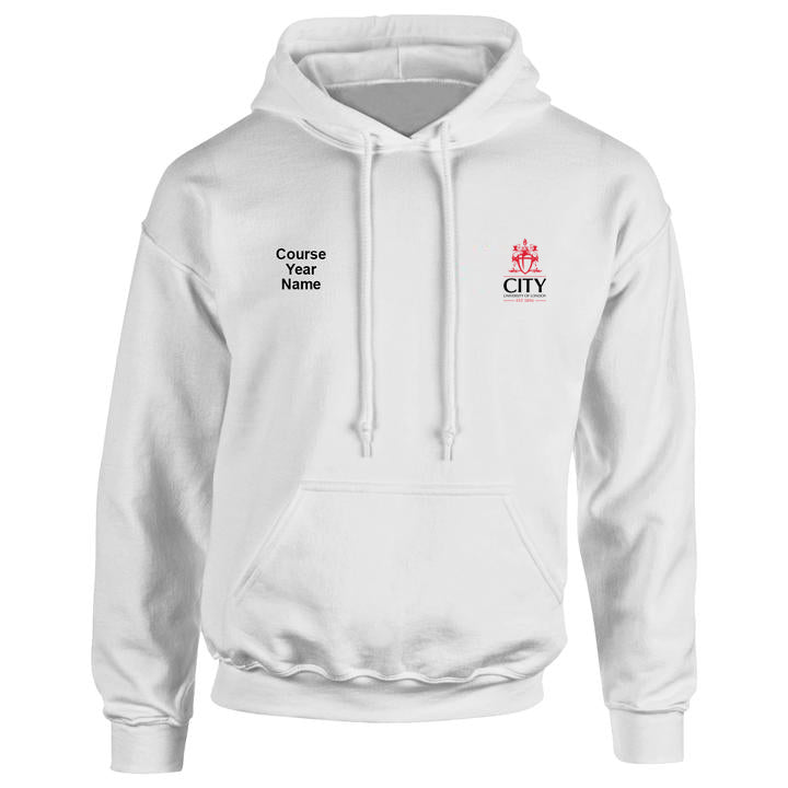 City embroidered Hooded top