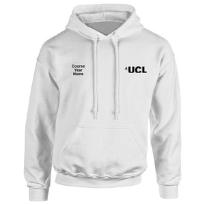 UCL embroidered Hooded top