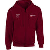 UOL embroidered Zip Hooded top