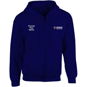 SOAS embroidered Zip Hooded top