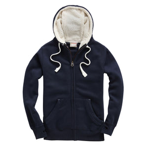 F15 Sherpa Fleece Zip Hoodie-Peach Finished