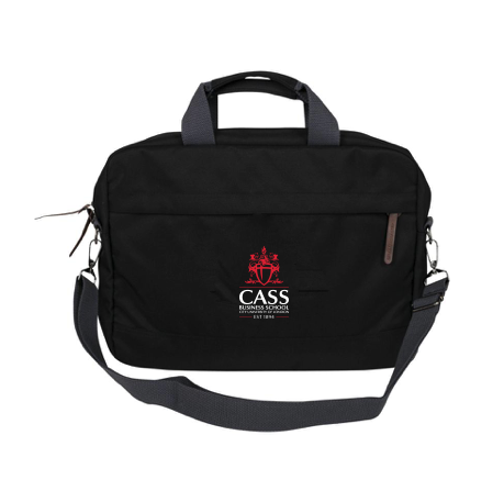 Cass Laptop Briefcase Black