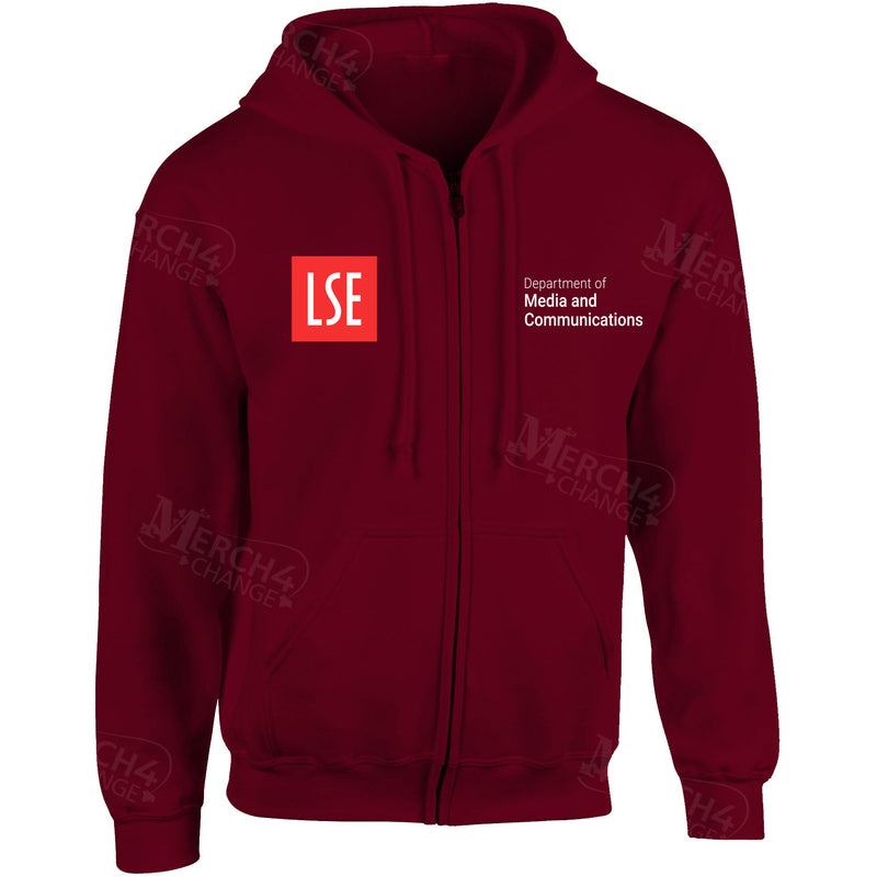 LSE Media Embroidered Zip Hooded top