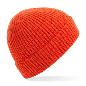 B380 Engineered Knit Ribbed Beanie