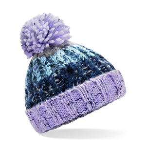 B486a Infant Corkscrew Pom Pom Beanie